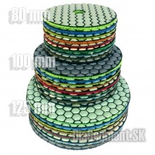 Flexible polishing disc 8-STEP, 80-100-125-150-180 mm