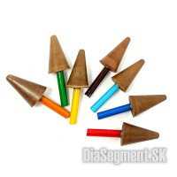 Diamond polishing poles, RESIN - Cone 6mm